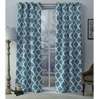 The Curated Nomad Ames Sateen Woven Blackout Grommet Top Curtain Panel Pair