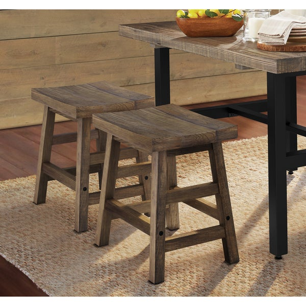 Carbon Loft Lawrence Reclaimed Wood Dining Stool