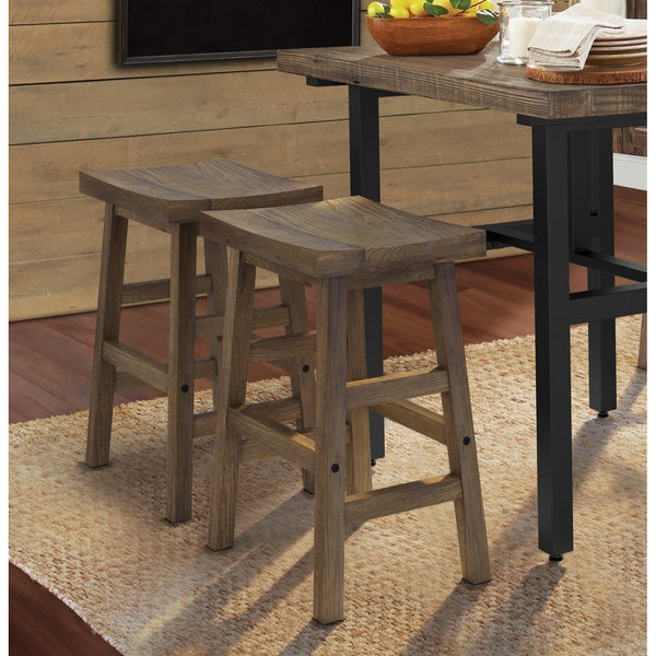 Carbon Loft Lawrence Reclaimed Wood Counter Stool. Opens flyout.