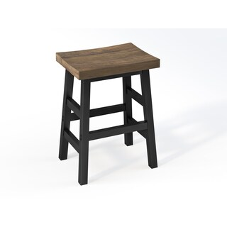 Alaterre Pomona Reclaimed Wood and Metal Counter Stool