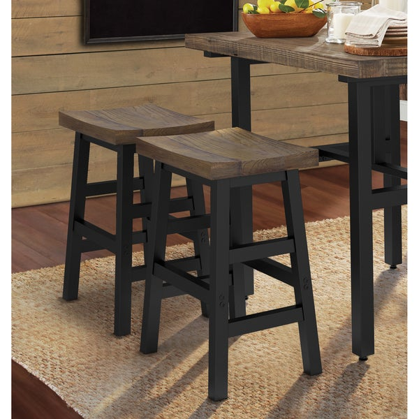 Carbon Loft Lawrence Reclaimed Wood And Metal Counter Stool