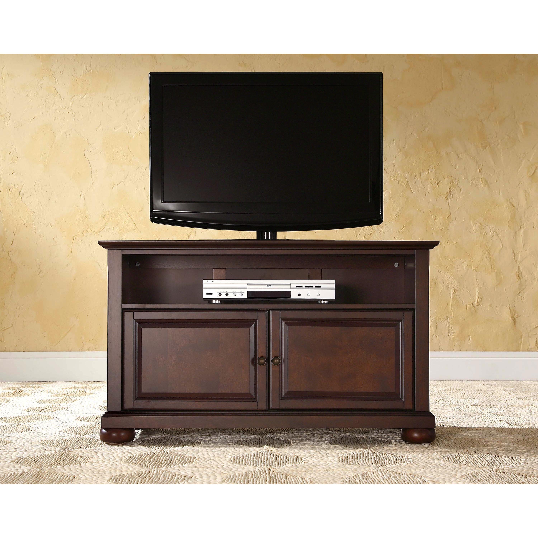 "Crosley Furniture Cambridge 42/"" TV Stand in Vintage Mahogany Finish"