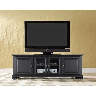 "Alexandria 60"" Low Profile TV Stand in Black Finish"