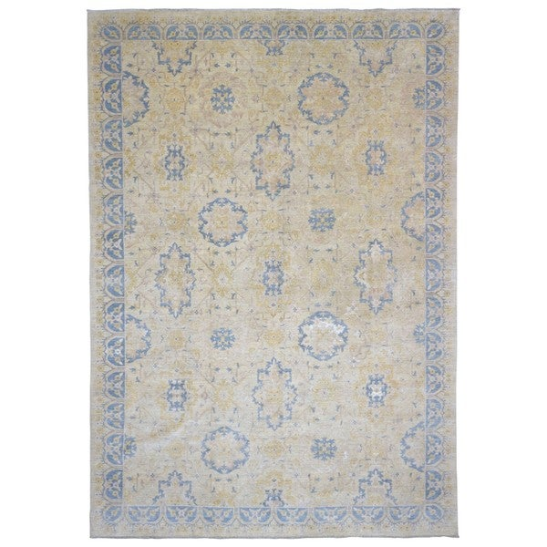 Shop Beige Wool Hand Knotted Oriental Persian Area Rug 6: Shop FineRugCollection Hand-knotted Peshawar Oriental