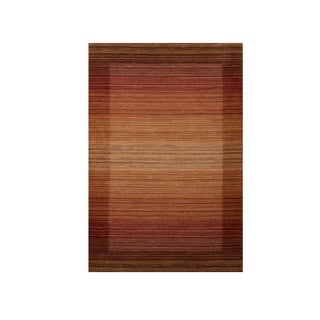 Excell Kingston Stripe Spice Area Rug (8' x 10')