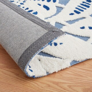 ExCell Home Fashions Chantilly Lace Blue/White Area Rug (8' x 10')