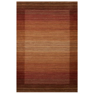 ExCell Home Fashions Kingston Stripe Spice Wool and Cotton Area Rug (4' x 6')