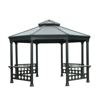 Sunjoy Chanute Octagonal Hard Faux-top Copper-top Gazebo