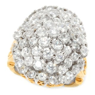 Michael Valitutti Palladium Silver White Zircon Oval Cluster Dome Ring (3 options available)