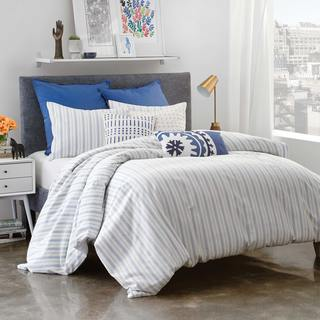 Under The Canopy Amalfi Stripe 100-percent Certified Organic Cotton TWIN Size Duvet Cover Set