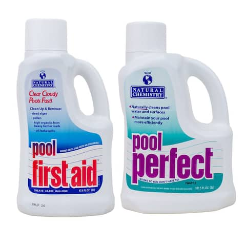 Natural Chemistry Pool Perfect, 3 Liters and Pool First Aid, 2 Liters