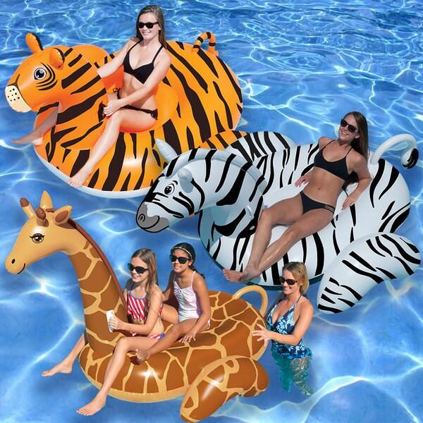Swimline Giant Giraffe, Zebra and Tiger Combo Pack