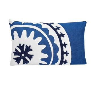 Under The Canopy Amalfi Stripe Suzani Decorative Pillow