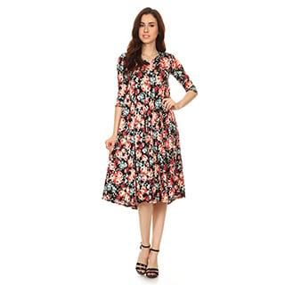 Women's Floral Pattern Dress