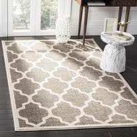 Safavieh Amherst Indoor / Outdoor Dark Grey / Beige Rug - 3' x 5'