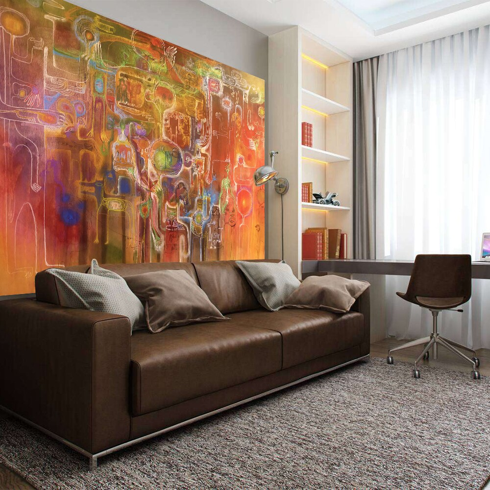 Full Color Abstract Painting Modern Art Wall Decal Sticker 48 X 65