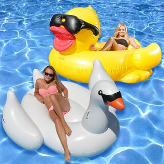 Giant Derby Duck and White Swan 2-Pack