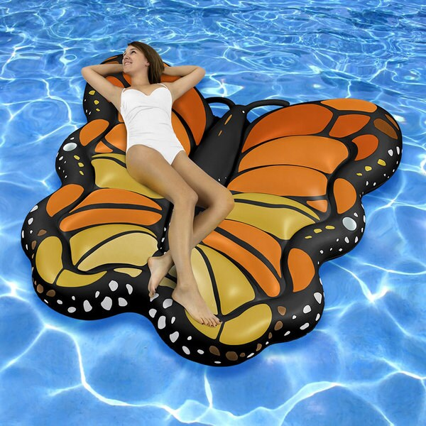 Swimline Giant Butterfly Floating Lounge Island for Swimming Pools