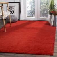 Safavieh Hand-Woven Himalaya Red Wool Rug (3' x 5')