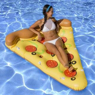 Ocean Blue Deluxe Pizza Slice Swimming Pool Float