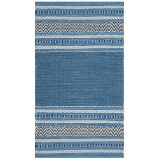 Safavieh Montauk Hand-Woven Blue/ Grey Cotton Area Rug (3' x 5')