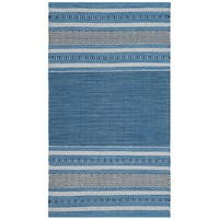 Safavieh Montauk Hand-Woven Blue/ Grey Cotton Area Rug - 3' x 5'