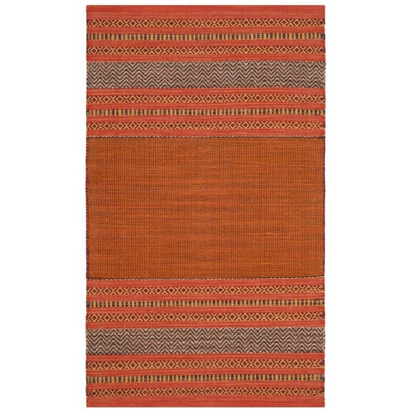 Shop Safavieh Montauk Hand Woven Orange Red Cotton Area