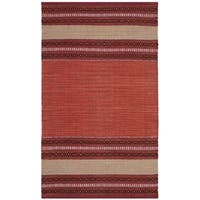 Safavieh Montauk Hand-Woven Red/ Ivory Cotton Area Rug - 3' x 5'