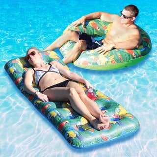 Margaritaville 18 Pocket Parrothead Float and Water Bug Float Combo-Pack for Swimming Pools