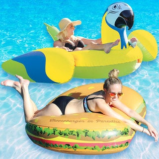 Margaritaville Cheeseburger in Paradise and Yellow Parrothead Combo-Pack for Swimming Pools