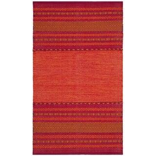 Safavieh Montauk Hand-Woven Red Cotton Area Rug (3' x 5')