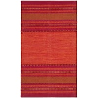 Safavieh Montauk Hand-Woven Red Cotton Area Rug - 3' x 5'