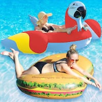 Margaritaville Cheeseburger in Paradise and Red Parrothead Combo-Pack for Swimming Pools