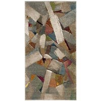 Safavieh Porcello Modern Abstract Brushstrokes Grey / Multi Rug - 3' x 5'