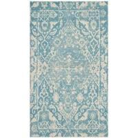 Safavieh Handmade Restoration Vintage Light Blue/ Ivory Wool Distressed Rug - 3' x 5'