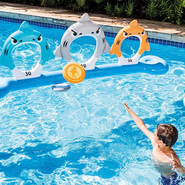 Intex Feed The Sharks Disc Toss for Swimming Pools