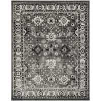 Safavieh Vintage Hamadan Traditional Grey / Black Distressed Rug - 4' x 6'