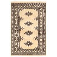 Herat Oriental Pakistani Hand-knotted Bokhara Wool Rug (3'2 x 4'8)