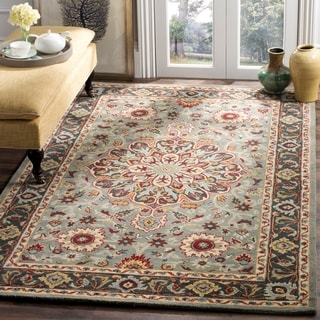 Safavieh Heritage Hand-Woven Wool Grey / Charcoal Area Rug (5' x 8')