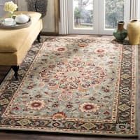Safavieh Heritage Hand-Woven Wool Grey / Charcoal Area Rug - 5' x 8'