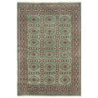 Herat Oriental Pakistani Hand-knotted Bokhara Wool Rug (4'1 x 5'11)