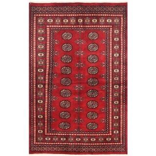 Handmade One-of-a-Kind Bokhara Wool Rug (Pakistan) - 4'1 x 6'2