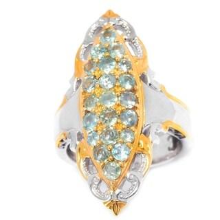 Michael Valitutti Palladium Silver Alexandrite Marquise Shaped Cluster Ring