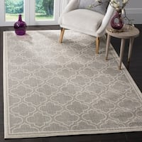 Safavieh Amherst Indoor / Outdoor Navy / Ivory Rug - 9' x 12'