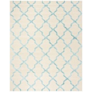 Safavieh Cambridge Hand-Woven Wool Ivory / Turquoise Area Rug (8' x 10')