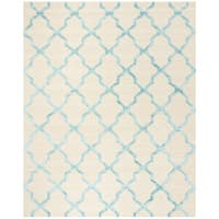 Safavieh Cambridge Hand-Woven Wool Ivory / Turquoise Area Rug - 8' x 10'