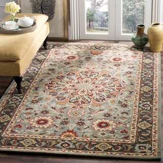 Safavieh Heritage Hand-Woven Wool Grey / Charcoal Area Rug (8' x 10')
