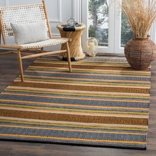 Safavieh Montauk Hand-Woven Navy/ Multi Cotton Area Rug (8' x 10')