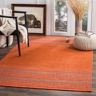 Safavieh Montauk Hand-Woven Orange/ Red Cotton Area Rug (8' x 10')