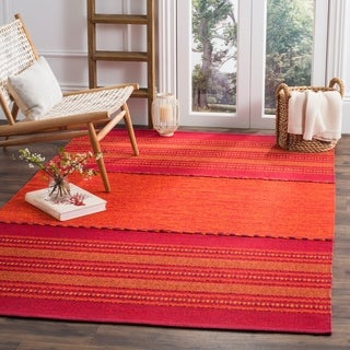 Safavieh Montauk Hand-Woven Red Cotton Area Rug (8' x 10')